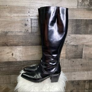 Via Spiga Pointed Toe Tall Black Boots